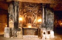 Underground chapel in caves in Valkenburg