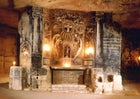 Underground chapel in caves in Valkenburg