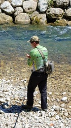 Fly-fishing on Pliva River