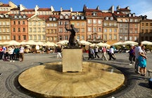 Mermaid Statue in the Old Town, Warsaw
