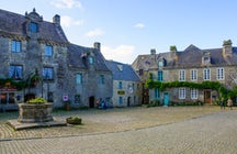 Locronan with its granite houses in Finistère