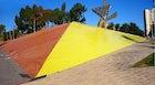 Yellow brick banks Barcelona