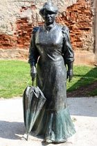 The Statue of Zagorka in Zagreb