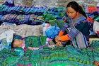 Bac Ha tribal market, Bac Ha town