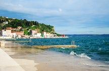Piran beach, Slovenia