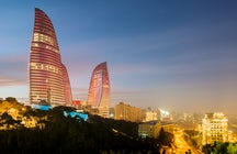 The Flame Towers in Baku