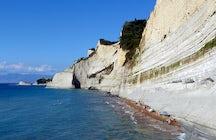 Peroulades beach in Corfu
