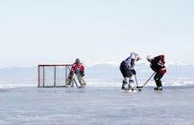 Ice Festival at Baikal Lake