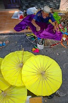 Traditional Umbrella Workshop, Tasikmalaya, West Java