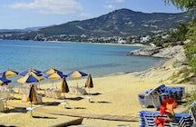The sandy Ammolofoi Beach
