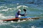 Kayak trails on Una river