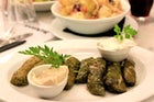 Dolmadakia (Stuffed grape leaves)
