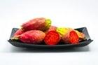 Tasting exotic fruit in Sicily