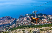 Take the cable car and get a view over Old Dubrovnik