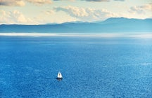 Sailing in Ohrid Lake