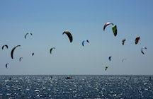 Kitesurfing on the Trasimeno