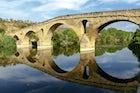 Cross Puente de la Reina on the Camino de Santiago de Compostela