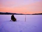 Ice fishing Riksgransen