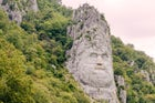 Rock sculpture of Decebalus
