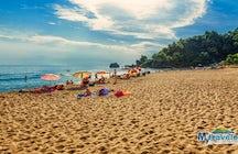 Glyfada beach in Corfu