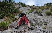 Climbing to Stjepan-Grad Fortress