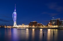 Spinnaker tower, overlooking Portsmouth harbour