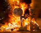 The Arizkun Carnival (Jumping the bonfire)