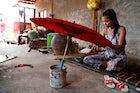 Shwe Sar parasol workshop, Pathein
