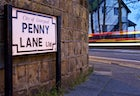 Penny Lane, in Liverpool