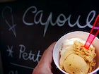 Have an ice cream at Capoue