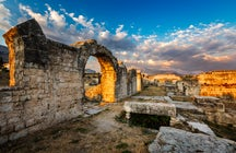 Ruins of the Roman amphitheatre in Solin
