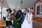 Koniki rite at Kalyady celebration, Davyd-Haradok, Belarus