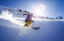 Skiing at Riksgrensen