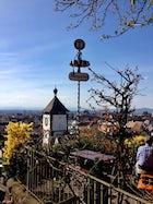 Beer garden at the Schlossberg