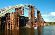 The Podilsko-Voskresenskyi Bridge, Kyiv
