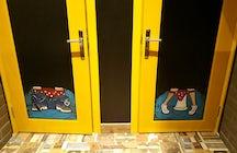 Yellow door kitchen and bar