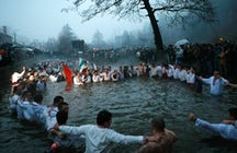 Epiphany day in Kalofer, Bulgaria