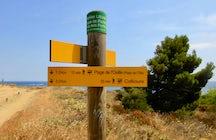 Coastal hike starting point (Le Racou to Collioure)