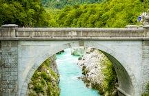 Napoleon bridge, Kobarid, Slovenia