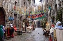 Visit Gubbio's Nativity Scene