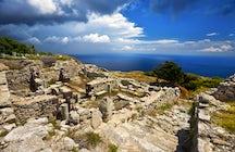 Ancient Thera in Santorini