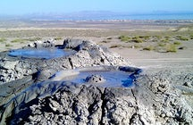 Mud volcanoes in Gobustan