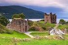 Urquhart Castle, besides Loch Ness