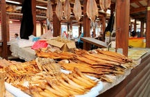Fish Market at Listvyanka Village