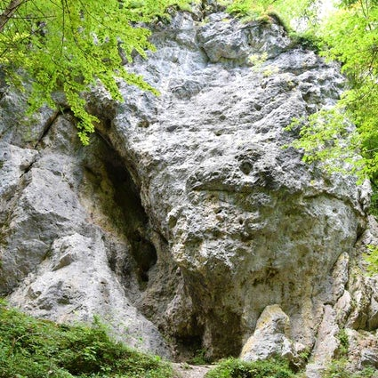 Climbing area Iški vintgar, Slovenia