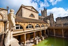 The Roman Baths complex in Bath