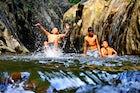 Embun Pelangi waterfall, Majalengka, Central Java
