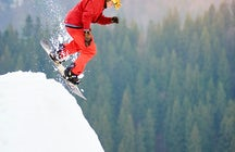 Bukovel ski resort in the Carpathian Mountains