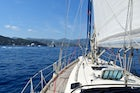 Yacht Sailing from Genoa's Harbour