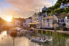 Visit the idyllic fishing harbour of Polperro